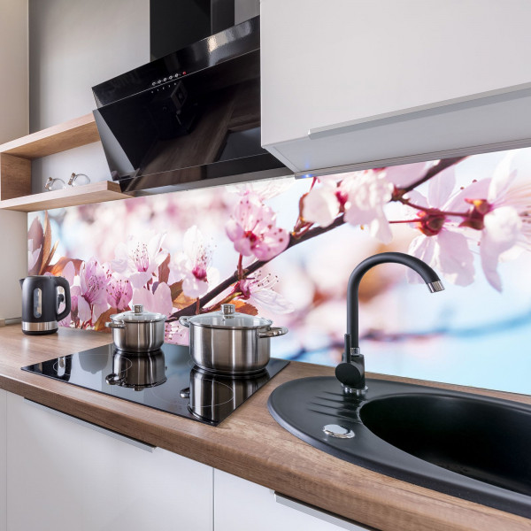 Kitchen Panel Kirschblüten
