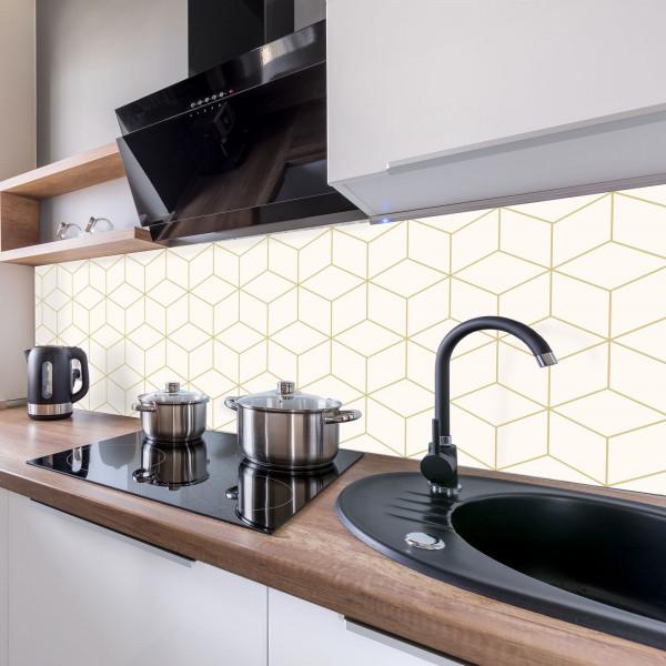 Kitchen Panel Hexagon Creme