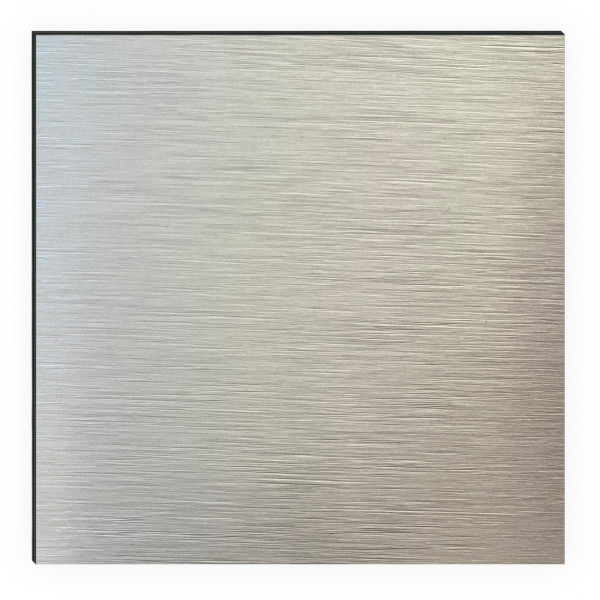 Kitchen Panel Steel Brushed Silber