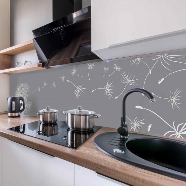 Kitchen Panel Pusteblume Grafik